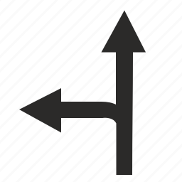 forward, left, motion, road, traffic icon