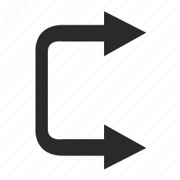 motion, right, road, traffic icon