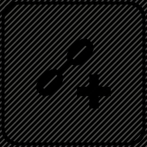 add, border, create, function, href, link, seo icon