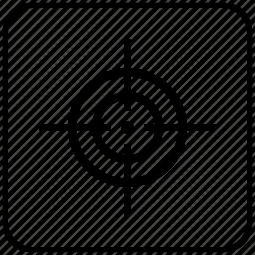 function, key, shoot, shooting, sniper, target icon