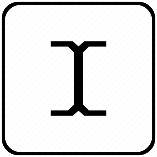 border, cursor, edit, rounded, space, square, text icon