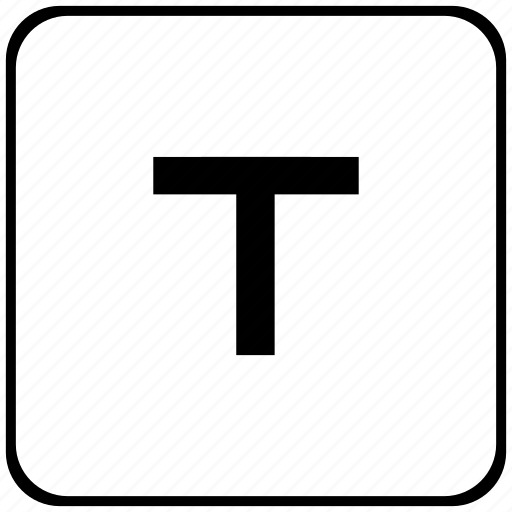 border, format, letter, normal, rounded, t, text icon