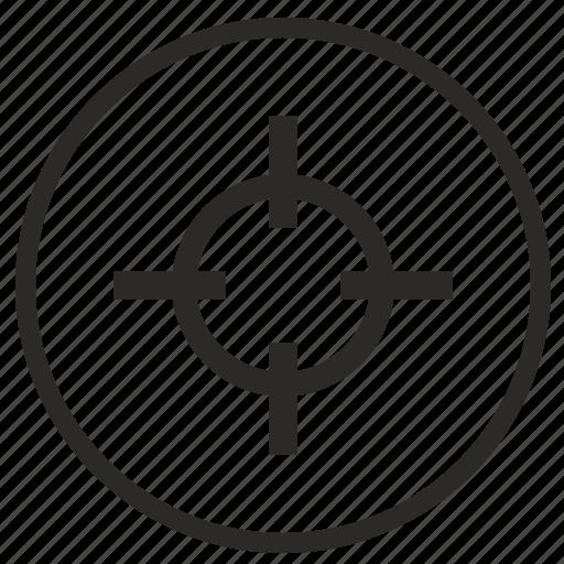 aim, cursor, pointer, round, target icon