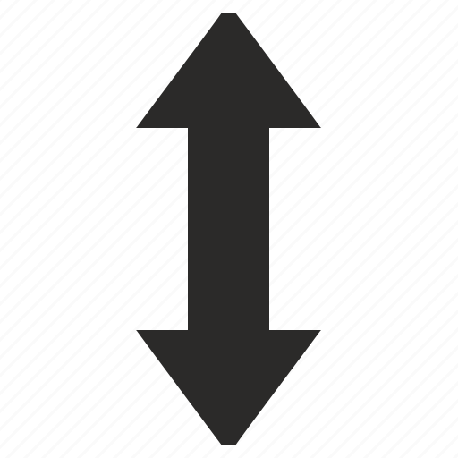 arrows, measure, size, vertical icon