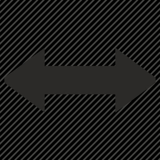 arrows, measure, size, width icon