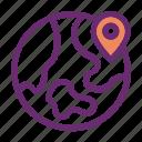 global market, location, pin, world icon icon