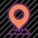 location, map, marker, pointer icon icon