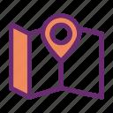 location, map, navigation, pin icon icon