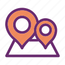 location, pins, places, points icon