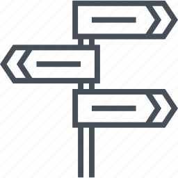 arrow, direction, direction sign, map, road sign, subway, way icon
