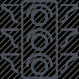 element, illustration, lamp, light, lights, traffic, traffic sign icon