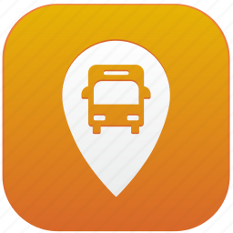 app, bus, point, station icon