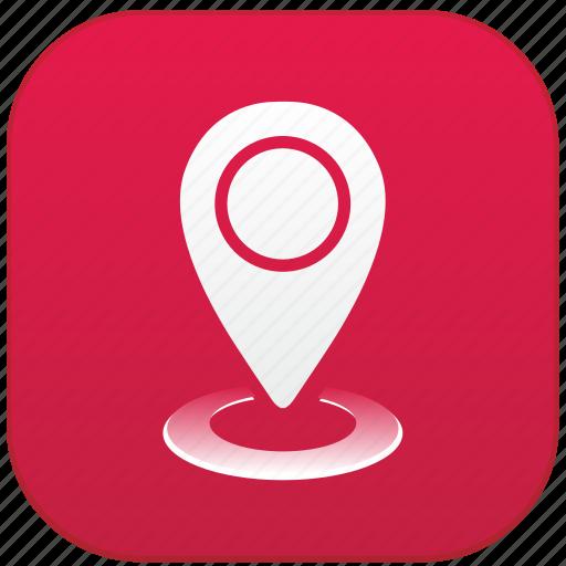 app, geo, point icon