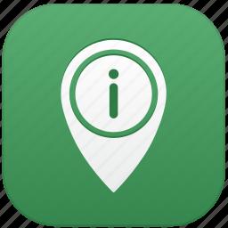 app, info, point icon