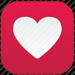 app, heart, love icon