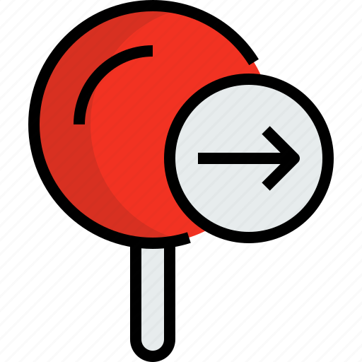 arrow, direction, navigator, pin, position, route, way icon
