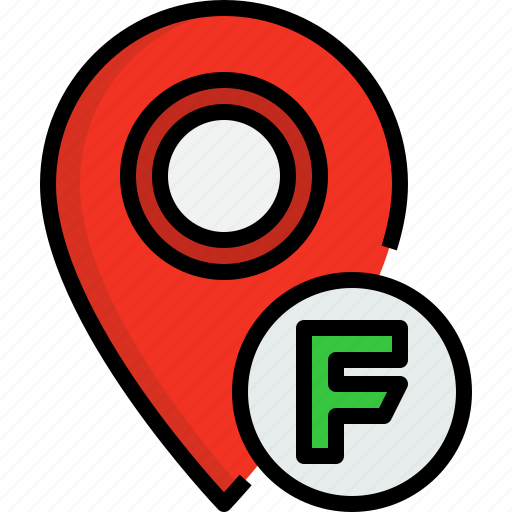 direction, food, navigator, placeholder, position, route, way icon