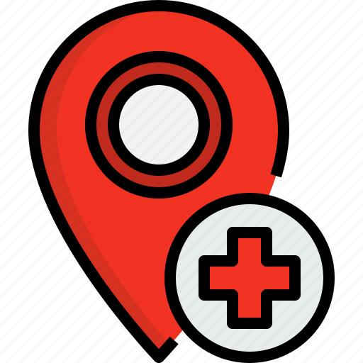direction, hospital, navigator, placeholder, position, route, way icon