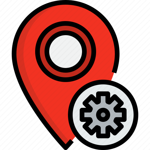 direction, navigator, placeholder, position, process, route, way icon