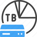 big data, database, storage, server, capacity, terabyte icon
