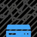 big data, database, storage, server, variability, variety, analytics icon