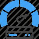 big data, database, storage, server, velocity, speed, performance icon