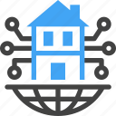 smart city, technology, device, smart home, house, buildings icon