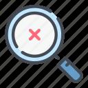 denied, find, negative, rejection, result, search
