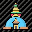 swayambhunath, monastery, religious, landmark, kathmandu
