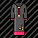 kurta, suruwal, dress, lady, traditional, folk, costume