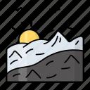 summit, landmark, himalaya, mount everest, largest, mountain, sun