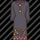 kurta, suruwal, dress, lady, nepalese