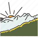 nagarkot, scenery, view, mountain, valley