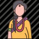 nepali, woman, traditional, costume, asian