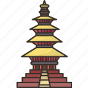 pagoda, ancient, religious, culture, hindu