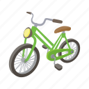bicycle, bike, cartoon, cycle, ride, sport, wheel icon