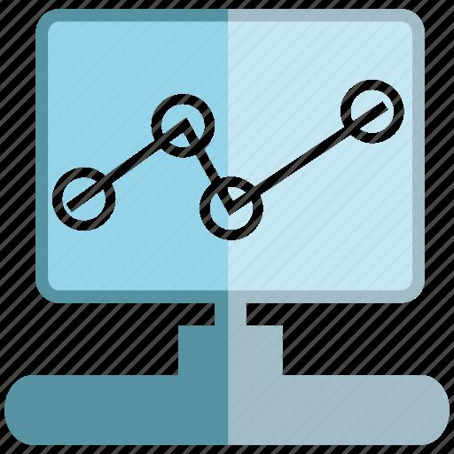 chart, computer, data, graph, internet, network, trend icon
