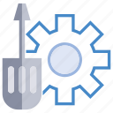 cog, fix, gear, screwdriver, setting icon