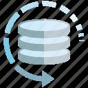 arrow, backup, data, data center, database, server