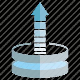 data, database, server, upload icon