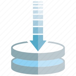 arrow, data, download, server icon