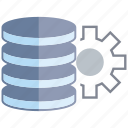 cog, data center, database, gear, network, server icon