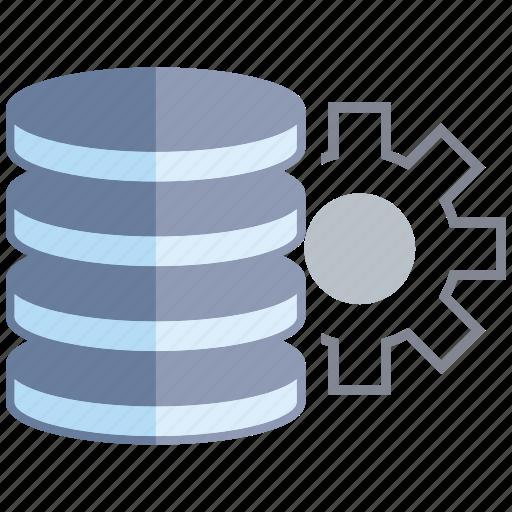 cog, data center, database, gear, network, server icon