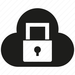cloud, cloud seurity, internet, key, lock, secure icon