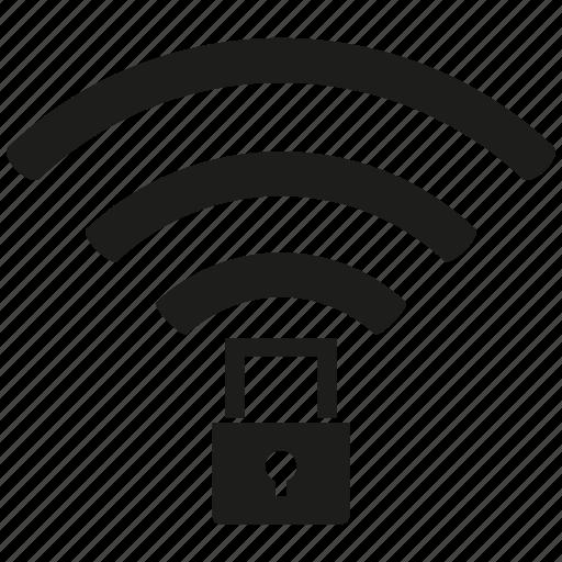 internet, key, lock, network, secure, wifi, wireless icon