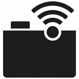 connection, file, folder, internet, network, wifi, wireless icon