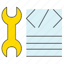 code, coding, fix, programming, wrench icon