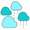 cloud, cloud computing, data, network, rain icon