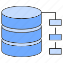 database, diagram, server icon