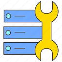 electronic, repair, router, wrench icon
